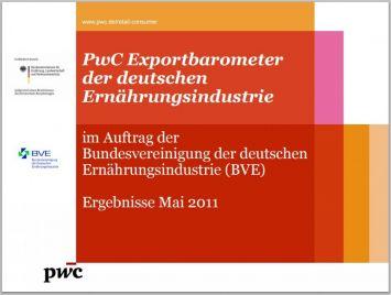 PwC Exportbarometer der deutschen Ernährungsindust