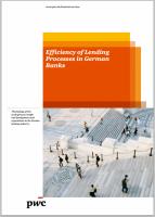 Efficiency of Lending Processes in German Banks