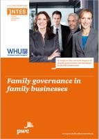 Family governance in family businesses